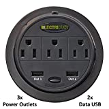 Power Tap Grommet with Hidden Power Center w/ 3 Power and 2 USB - 10 Pack