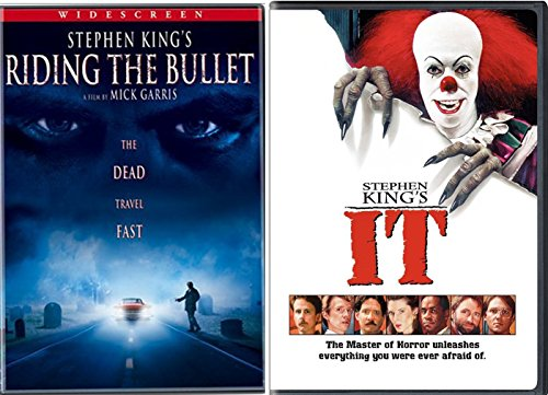 Stephen King IT & Riding The Bullet DVD Horror Double Feature Movie Collection