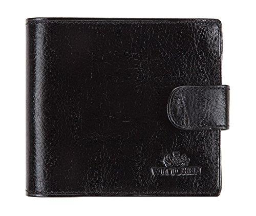Wittchen Wallet, Taille: 12x10cm, Noir, Matériel: Cuir grainé, Horizontal, Collection: Italie - 21-1-125-1