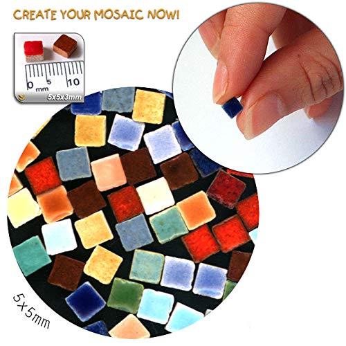 Mosaic-Minis(3/16 inch) (5x5x3mm), 1.000 Pieces, Random Mix All, MXAL