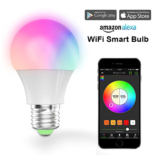Magic Hue Smart LED Light Bulb, Wi-Fi, Dimmable White, 40W Equivalent, Works with Amazon Alexa