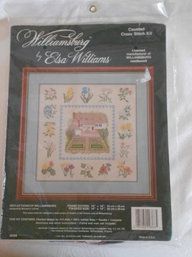 Reflections of Williamsburg Elsa Williams Counted Cross Stitch Kit #29368 (Elsa Williams Cross Stitch)