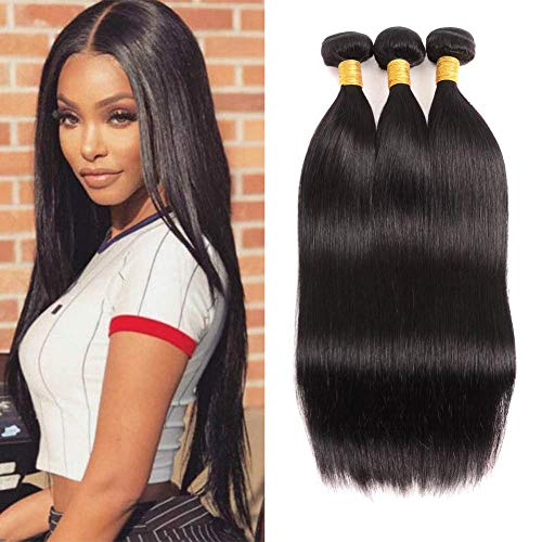 - TIANTAI 9A Brazilian Remy Virgin Human Hair 3 Bundles 10 12 14 inch Straight 100% Unprocessed Human hair Extensions Weave Natural Color