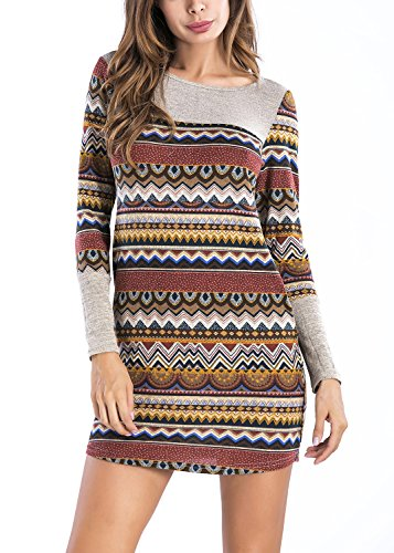 123ca911204 Bluetime Women Striped Bodycon Dress Long Sleeve Pullover Knit Mini Sweater  Dress – Shop New York Style Guide