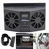 WensLTD 2017 HOT NEW Solar Powered Car Window Air Vent Ventilator Mini Air Conditioner Cool Fan (Black)