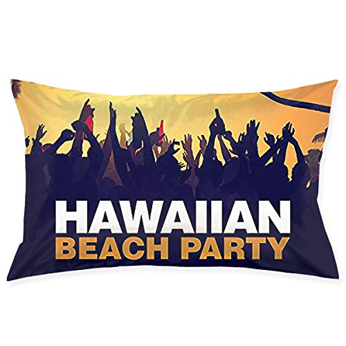 Soft Pillow Covers Hawallan Beach Party Standard 20 X 30 Inch Pillowcases Double Printed Cushion Covers Car Sofa Home Decor