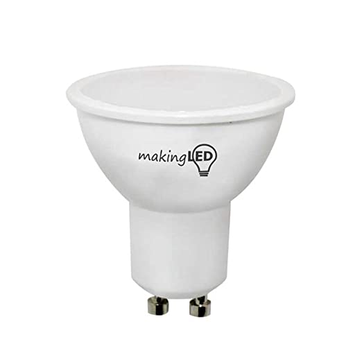 MakingLED Bombilla LED con Luz Neutra GU10, 4 W, (4200K), 5