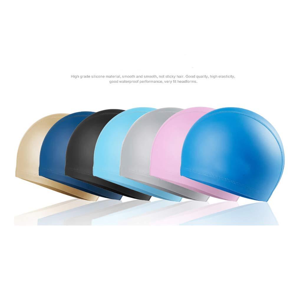 1pc Swimming Cap No-Slip Swimming Cap Swimming Cap Ear Wrap Waterproof Hat for Adult Women Men(Pink) by Asien (Image #3)