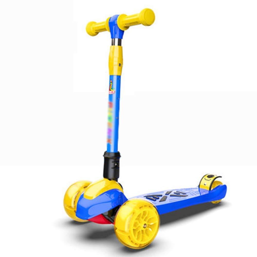 安い購入 スクーター幼児用スクーター B07R6HQT55 子供キックスクーター調節可能な高さハンドルバーデッキスクーター折りたたみ式3点滅PUホイール最高の贈り物子供男の子女の子 子供用スクーター (色 青 : 青) B07R6HQT55 青, 天城町:1b213507 --- 4x4.lt