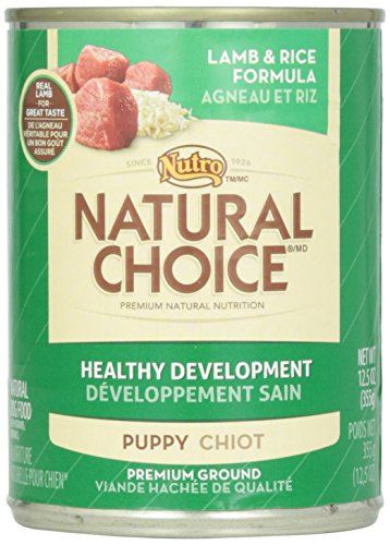 Nutro, Canned Dog Food, Natural Choice Puppy Lamb & Rice, 12.5 oz