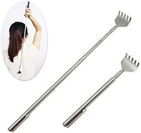 Stainless Steel Telescopic Extendable Pen Back Scratcher Itching Tool