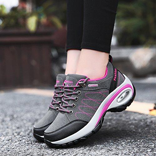 Chaussures La Sport Gray En L'usure Quatre À Pour Daim Résistantes Antidérapantes Course Saisons Suetar Et De Femmes Randonnée Dames Mode dqpFda