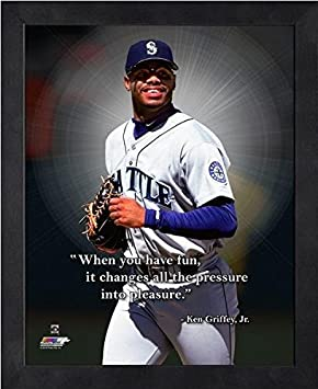 9 x 11 Ken Griffey Jr Seattle Mariners Pro Quotes Framed Photo