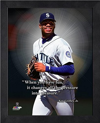 Ken Griffey Jr. Seattle Mariners MLB Pro Quotes Framed Photo (9