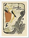 """Paper Print Wall Art of Le Jardin De Paris """"Jane Avril"""".. Art Prints are produced on professional-grade paper using high-end equipment to yield a gallery-quality product with stunning vibrancy. Image keywords: le jardin de paris jane avril, henri de ..."""