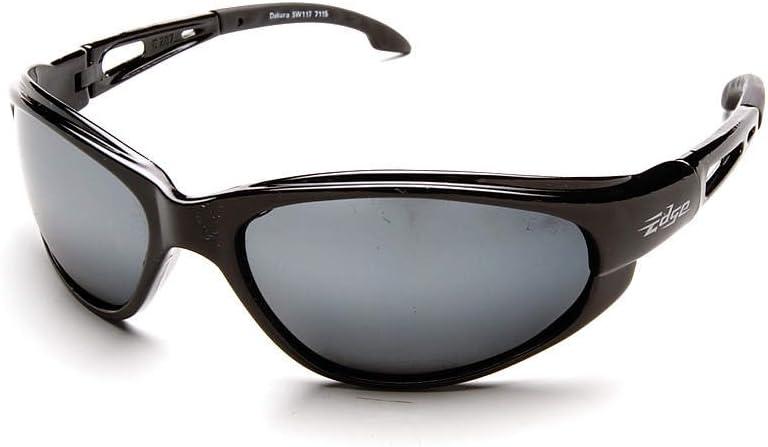EDGE EYEWEAR SW117 Dakura Safety Glasses Black Frame And Mirror