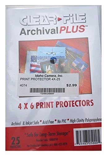 Clear File Archival+ 4X6 Print Protectors - OOB - 25 - Protectors 6 Archival Print