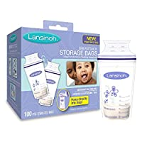 Lansinoh Breastmilk Storage Bags, 100 Count, BPA Free and BPS Free (Packaging...