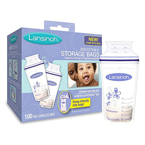 Изображение товара Lansinoh Breastmilk Storage Bags, 100 Count, BPA Free and BPS Free (Packaging May Vary)