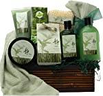 Green Tea Zen Calming Spa Bath and Body Set Gift Basket from Art of Appreciation Gift Baskets