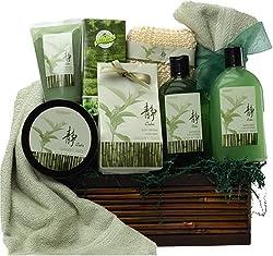 Green Tea Zen Calming Spa Bath and Body Set Gift Basket from Art of Appreciation Gift Baskets