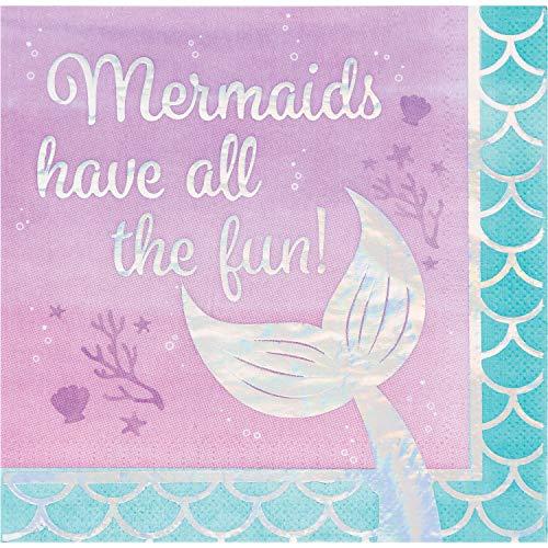 (Iridescent Mermaid All The Fun Napkins, 48 ct)