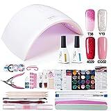 Azure Beauty Gel Polish Starter Kit with UV LED 24W Nail lalmp Dryer WSGP19