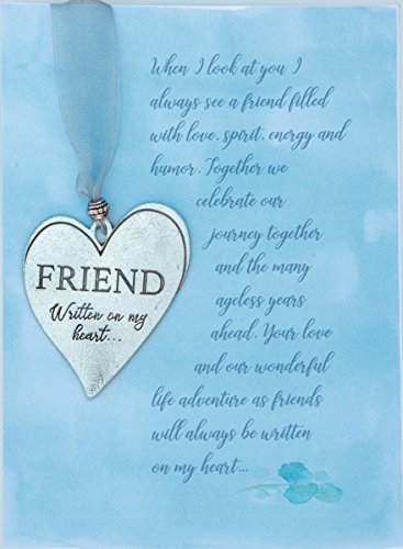 (Heart Pewter Ornament/Friendship Keepsake with Loving Message - Gift for)
