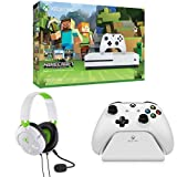 Xbox One S 500GB Console - Minecraft Bundle + Turtle Beach Recon 50X White Stereo Gaming Headset + Controller Gear White Controller Stand v2.0