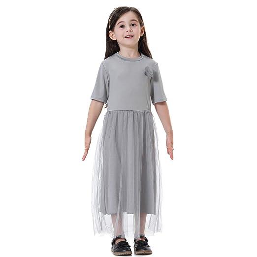 BMSGM Sudeste de Asia Chica étnica Otoño e Invierno Algodón Ocio Falda Larga Estilo Lindo, Adecuado para niñas de Diferentes Alturas,Gray,90CM: Amazon.es: Hogar