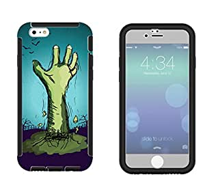 1114 - Cool Fun Zombie Hand Scary Design iphone 5 5S Full Body CASE With Build in Screen Protector Rubber Defender Shockproof Heavy Duty Builders Protective Cover