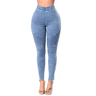 new specials offer discounts super cute Jean Taille Haute, GreatestPAK Automne Hiver Femmes Leggings Stretch Pencil  Jeans Skinny Slim Fitness Pantalon