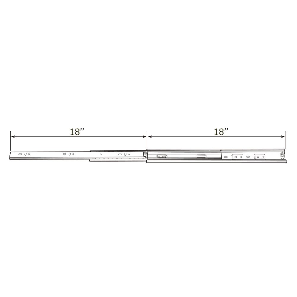 "KINGO Home 2 Pair of 18 inch Full Extension Stainless Steel Hardware Ball Bearing Side Mount Drawer Slides, Available in 10'' 12'' 14'' 16'' 18"" 20"" Lengths by KINGO HOME (Image #7)"