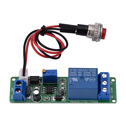 Akozon Timer Module, DC 12V Adjustable Timer Delay Turn Off Module Timing Relay Time Switch 1~10sec