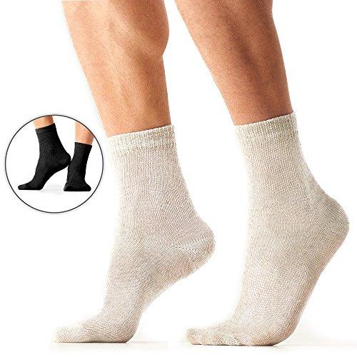 Organic Eco Hemp Walking Socks – Wide Range of Cool Moisture Wicking Dress Socks - Black - ()