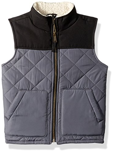 The Children's Place Baby Boys' Quilted Vest, Black, (Black Sweater Vest For Boys)