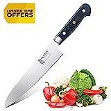 Tartek Professional Chef Knife- German 1.4116 Stainless Steel - Ergonomic Balanced Micarta Handle -Razor Sharp Kitchen Knife for Home and Restaurant- 8 Inch