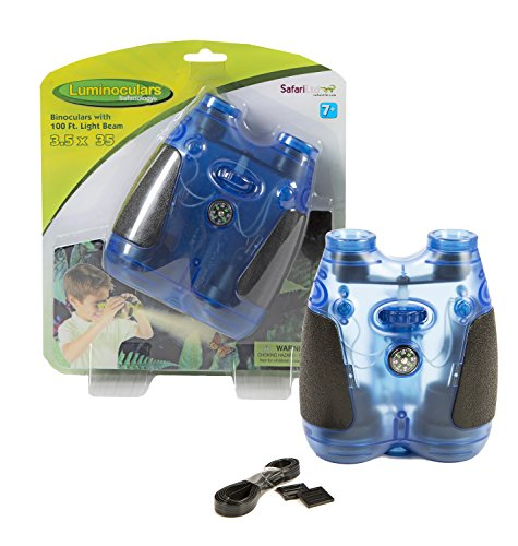 UPC 095866654016, Safari Ltd Translucent Blue Luminocular Binoculars for Ages 5 and Up