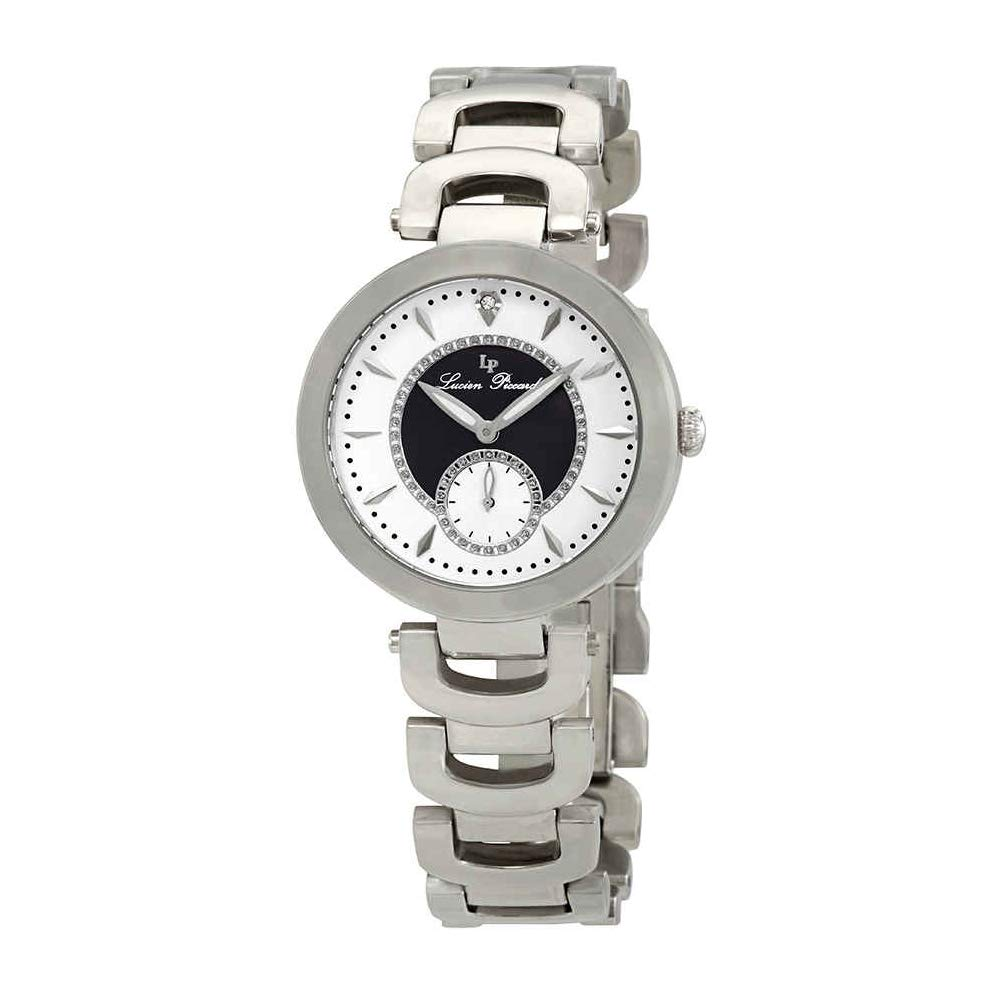 Lucien Piccard Women s LP-10268-22-BKA Casablanca Analog Display Quartz Silver Watch