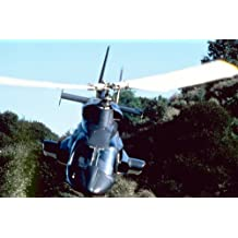 Airwolf cult TV series great Image of Helicopter Bell 222 in flight 24x36 Poster