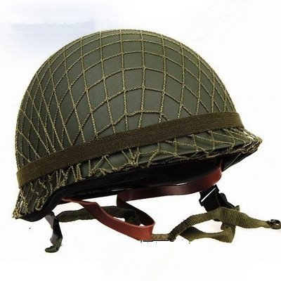 GPP Perfect WWII US Army M1 Green Helmet Replica with Net/ Canvas chin strap DIY -