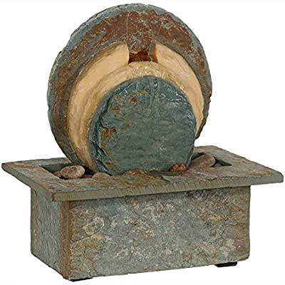 Sunnydaze Flowing Rock Indoor Slate Tabletop Water Fountain, 13 Inch