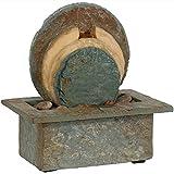 Sunnydaze Flowing Rock Indoor Slate Tabletop Water Fountain, 13 Inch