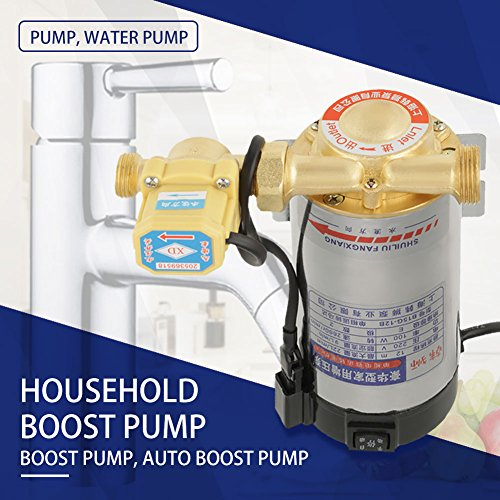 220V 100W Auto Household Stainless Steel Boost Pump for Tap Water Pipeline Sink facucet Shower Pressure Water Booster by Hilitand (Image #5)