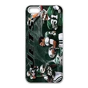 iPhone 5,5S Phone Case White New York Jets JFL259248