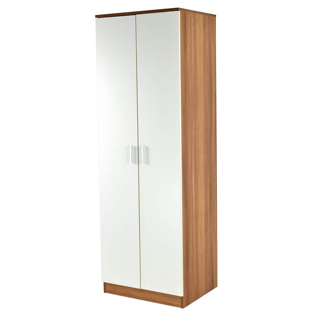 Homegear Bedroom White Wardrobe/Storage Cabinet