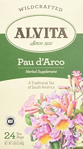 Alvita Teas Pau D' Arco Tea Bags - Natural Remedy for Toenail Fungus