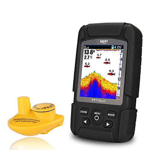 Cheap Lixada Wireless Portable Fish Finder 45M/145 Feet Depth Waterproof Sonar Ocean River Lake Fish Detector