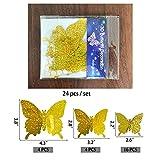 Butterfly Wall Decor, 24PCS 3D Butterfly Cake