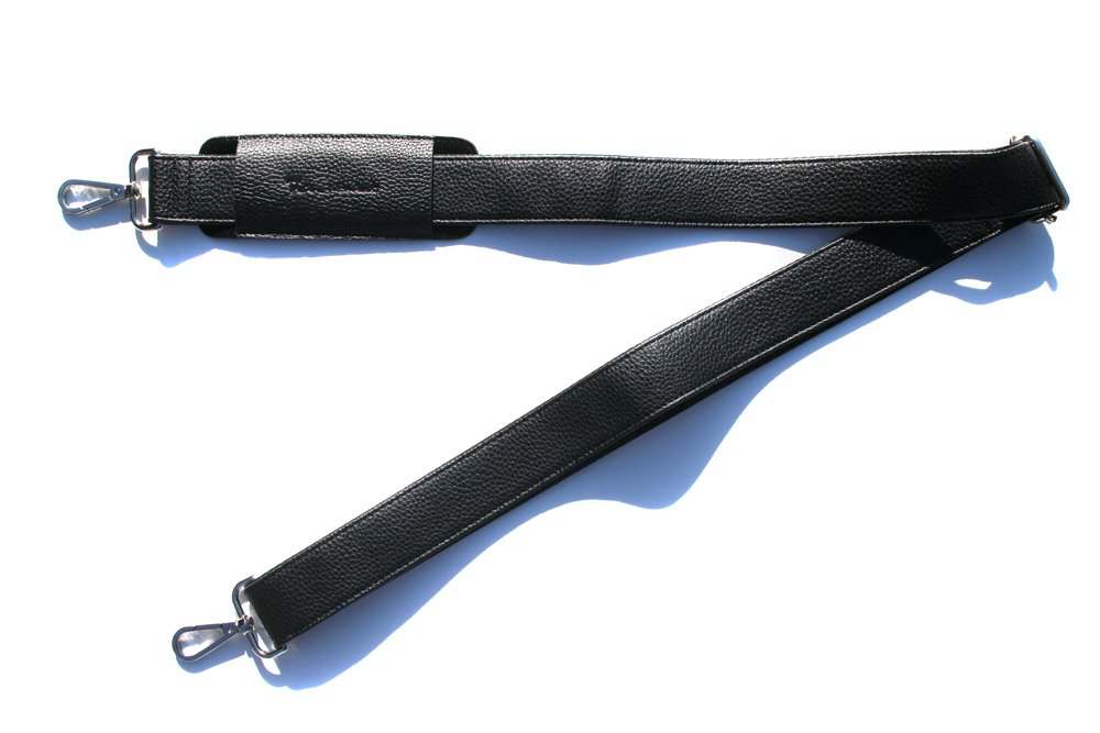 Rich Mbariket Genuine Pebble Leather Shoulder Strap For Briefcase Bag Duffel 62''